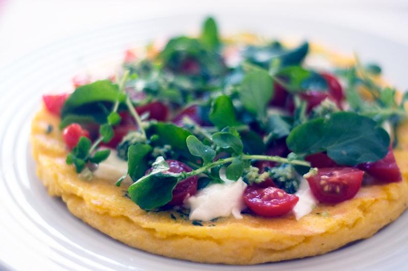 Pizza fingida de polenta