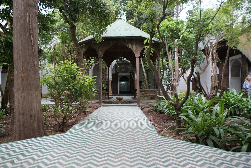 Un des patios du musée Dar Si Said de Marrakech.