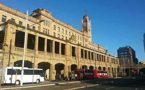 Central Station: end of the bus journey in Sydney