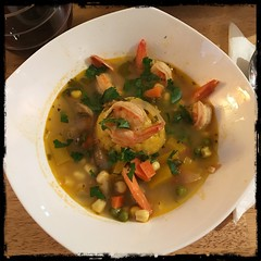 #Asopao #PuertoRican #Shrimp #Soup #homemade #CucinaDelloZio - with #mofongo