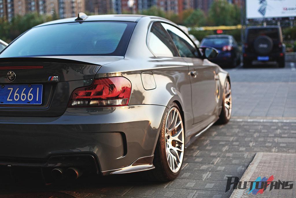 CNAUTOFANS BMW E82 1M REVOzport carbon fiber rear diffuser ...