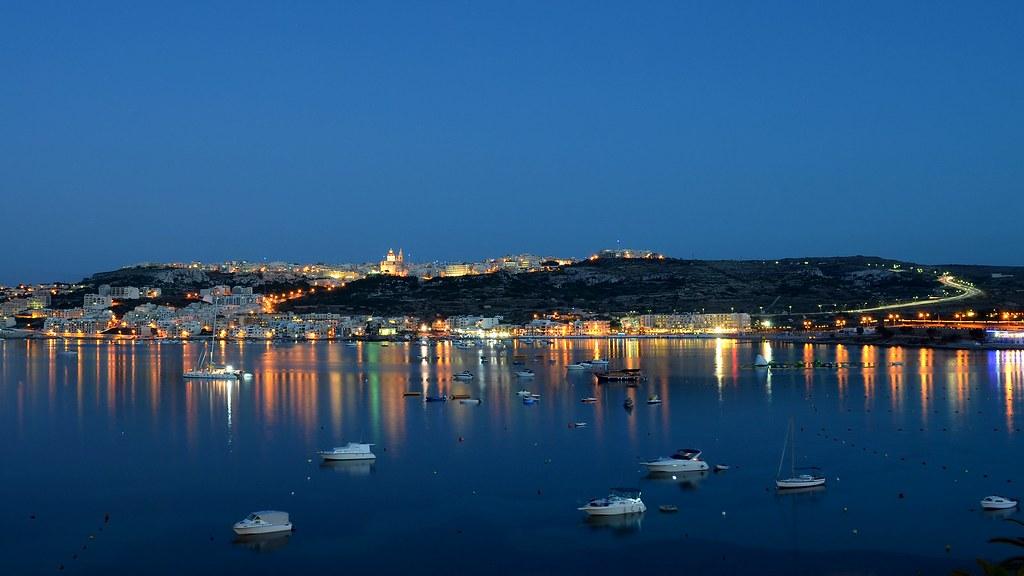 Mellieha Bay - Night - HD Wallpaper | Kevin Millican | Flickr