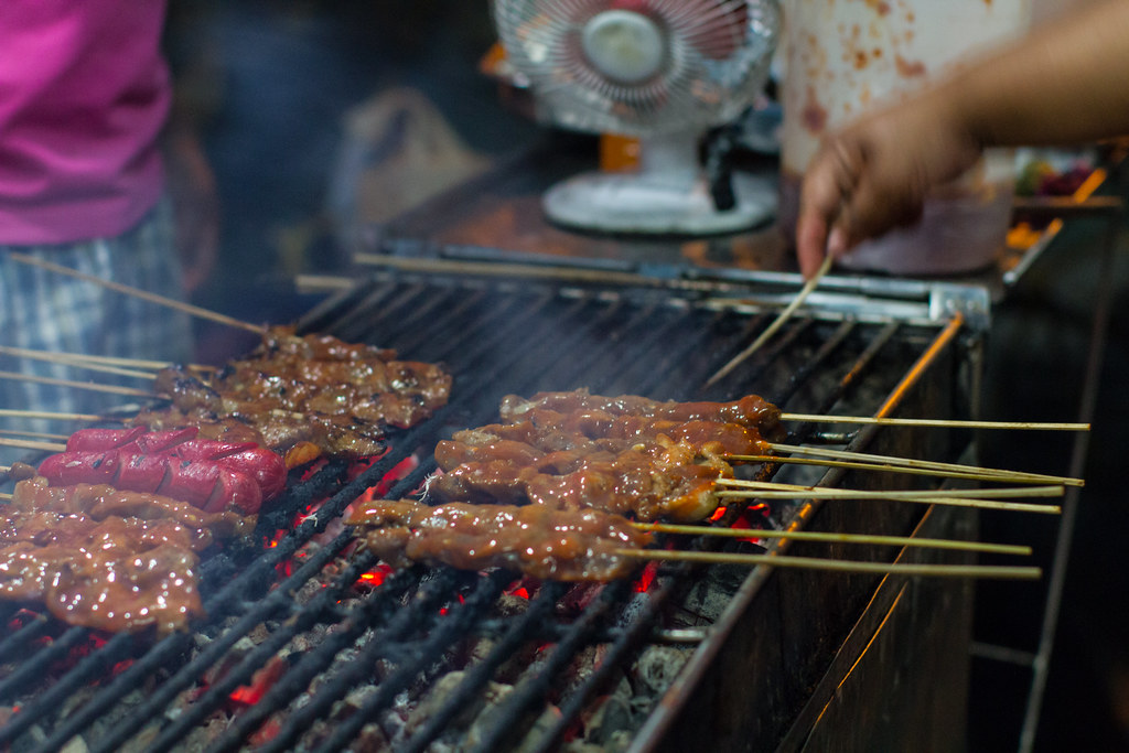 Filipino Grill Every Night In The Philippines Charcoal