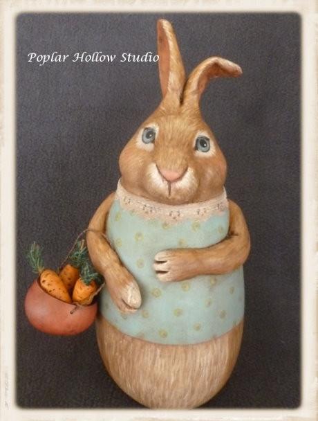 """Joy"" spring gourd bunny"