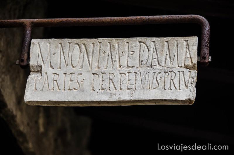 visita a Herculano cartel de taberna