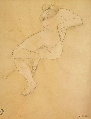 17c17 Femme nue étendue sur le côté ca 1900 variante Uti 425