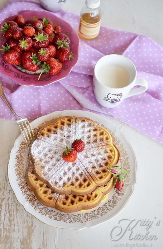 Waffle all'acqua di rose