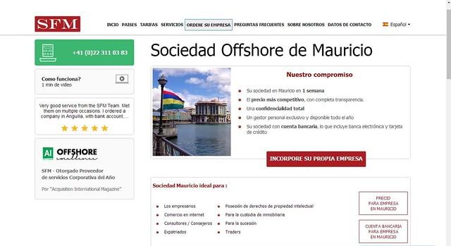 Offshore en Mauricio