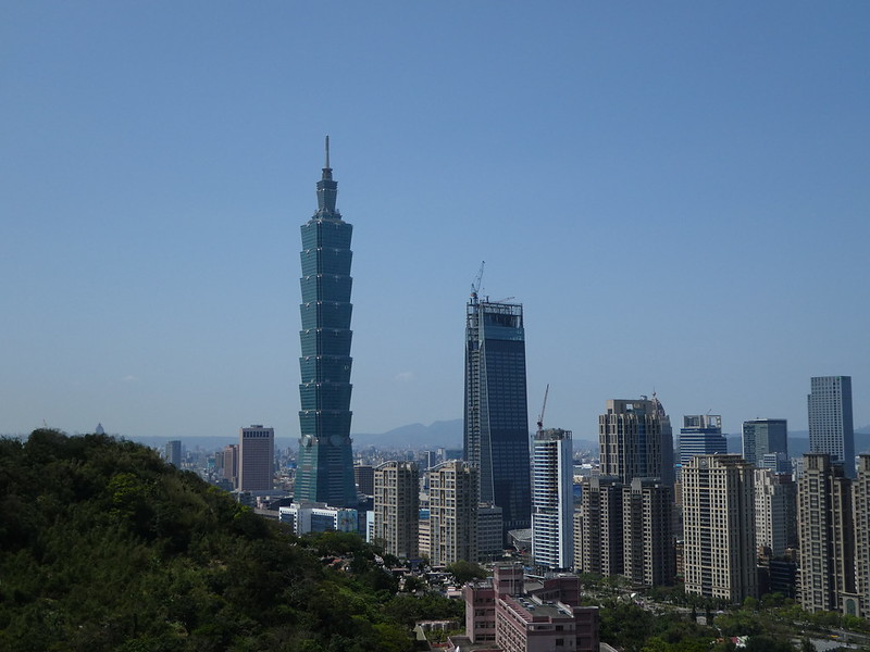 Taipei 101 from Elephant Mountain, Taipei