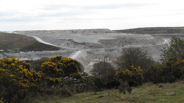 Headon China Clay Works the other side of Crownhill Tor