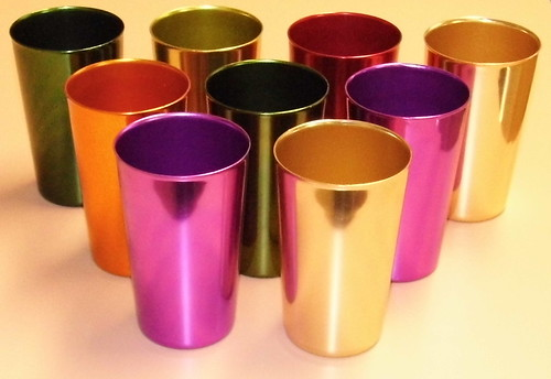 Vintage Bascal Aluminum Tumbler Cups, Made In USA, 1960s Era | by France1978