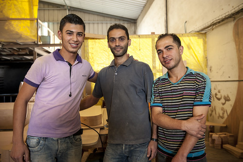 Workers at a furniture factory in a new industrial area near Gaza City | by World Bank Photo Collection