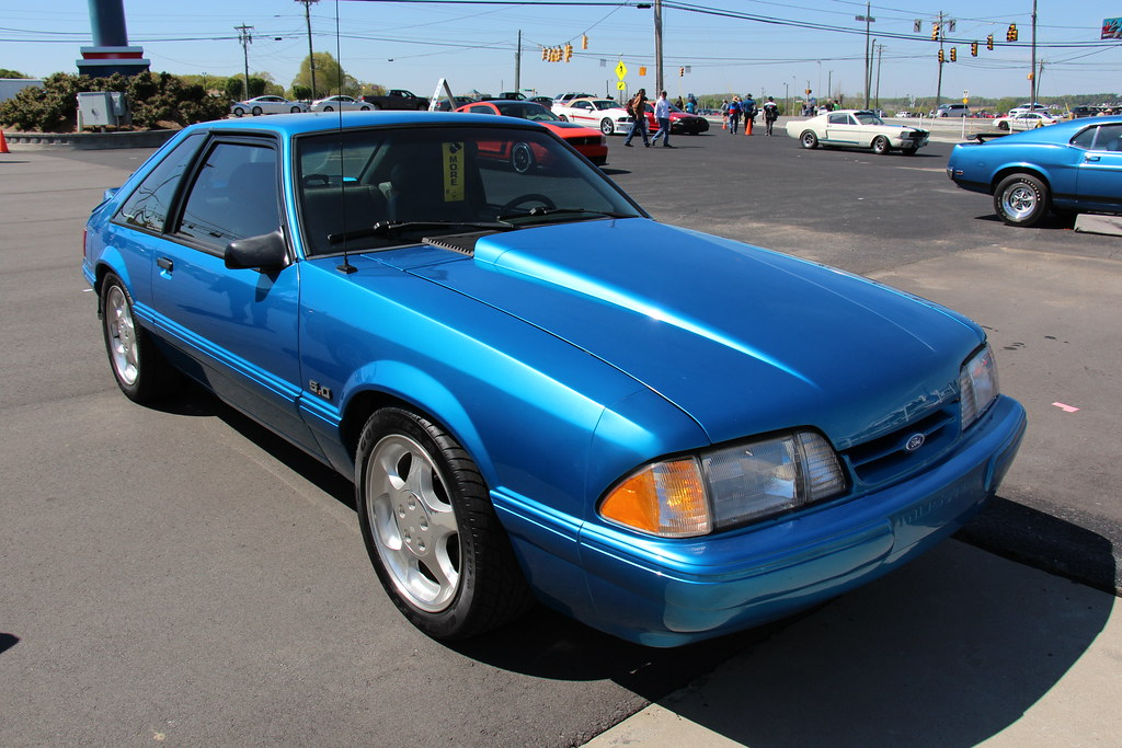1992 Ford Mustang Lx Hatchback Ultra Blue Fords Pony Car Flickr