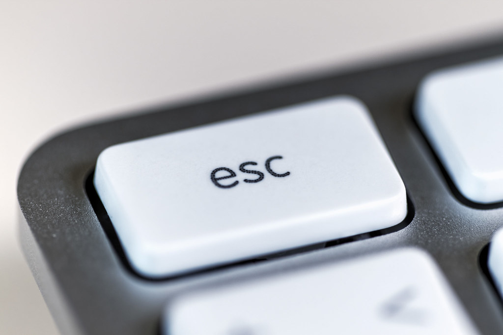 Esc Key Escape Button On The A1243 Apple Wired Keyboard