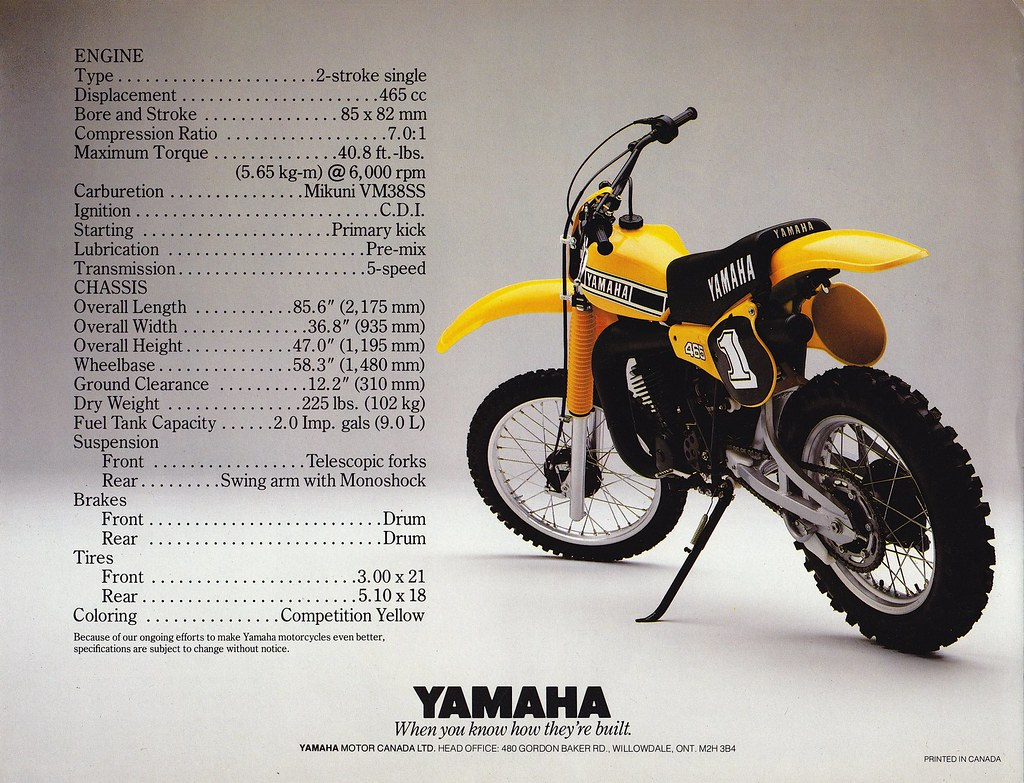 Yamaha Yzk Brochure