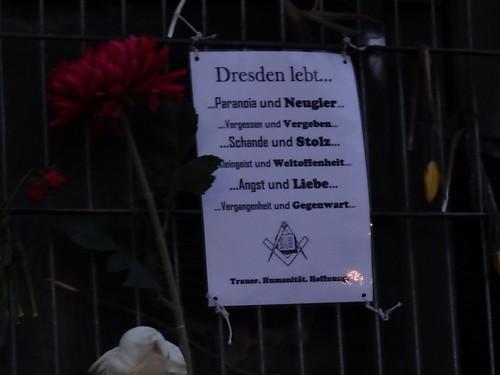 Dresden lebt die Frauenkirche steht und die Dresdner denken sich ihren Teil