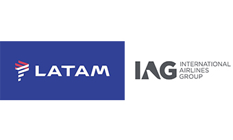 LATAM e IAG logos (Cias. Aereas)