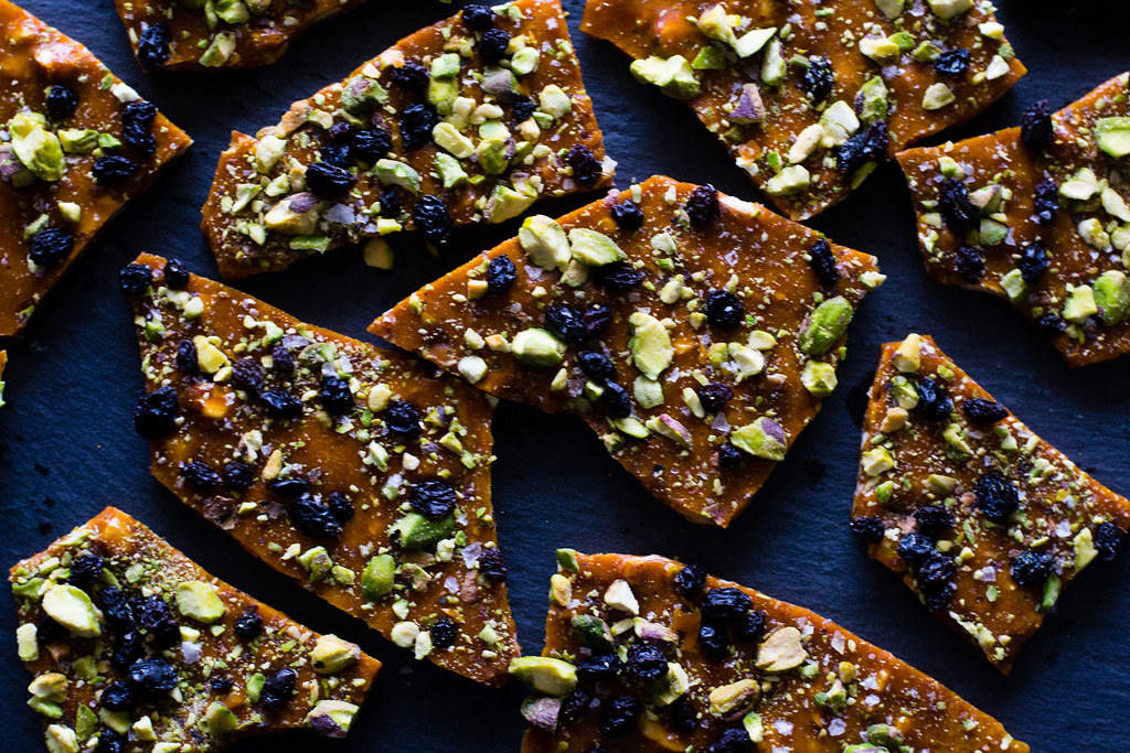 Saffron and Pistachio Brittle