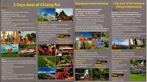Brochure Chiang Mai Local Tours Chiang Mai Thailand 2