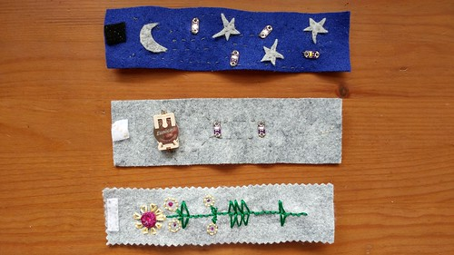 eTextiles: Light Up Felt Wristband, three ways