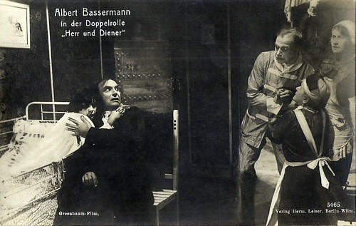 Albert Bassermann in a dual role in Herr und Diener