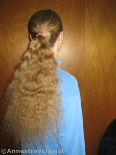 Finished ponytail - 12 hiking hairstyles that are pretty & practical