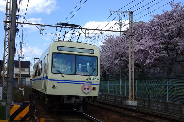 2017/04 叡山電車×NEW GAME! 2016アニメ版ラッピング車両 #55