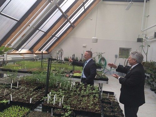 Touring @GfldCommCollege w/ President Pura. They house an outstanding greenhouse! | by Massachusetts Secretary of Education