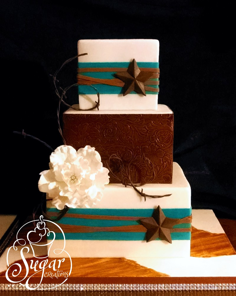 western wedding cake | I sure wish I had a better photo of t… | Flickr