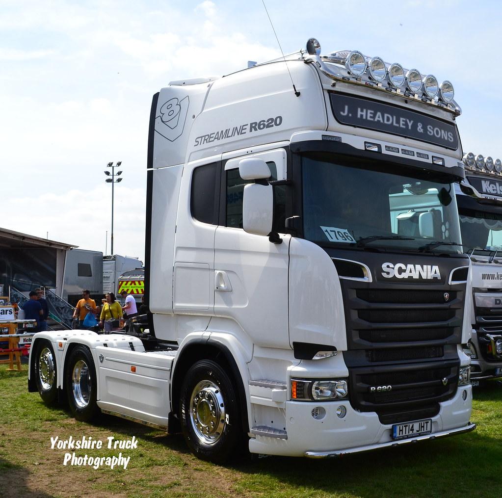 Connu J. Headley & Sons - Scania R620 V8 Topline | HT14 JHT | Yorkshire  UV12