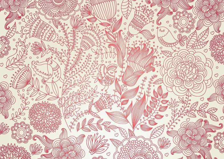 Vintage Floral Design Vector Background Larissa J S Flickr