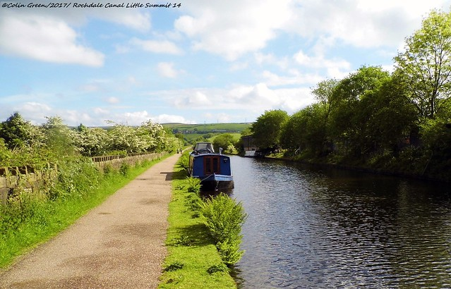 The Rochdale Canal Between Locks 46 and 47.