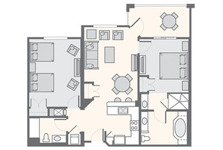 The Fountains 2 Bedroom Superior 1 278 Sq Ft Bluegreen