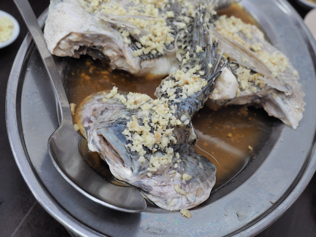 Steamed Tilapia fish original flavor.