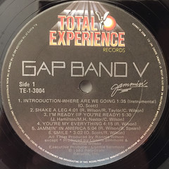 GAP BAND:GAP BAND V JAMMIN'(LABEL SIDE-A)