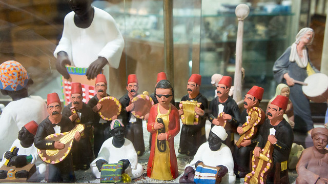 Um Kalthoum ensemble figurines in Khan El-Khalili