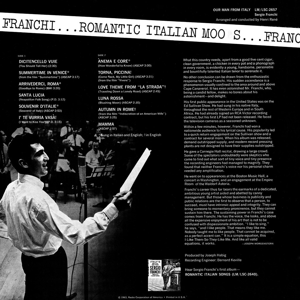 Sergio Franchi - Our Man from Italy
