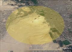 Giza Pyramid 5 kilometer diameter