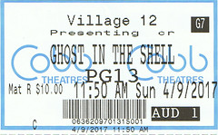Ghost in the Shell ticketstub