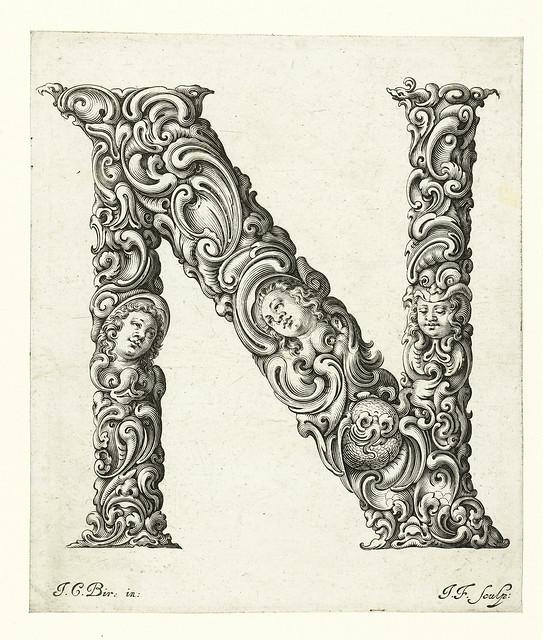 014-Letra N-Libellus Novus Elementorum Latinorum -J. C. Bierpfaff-  Rijksmuseum