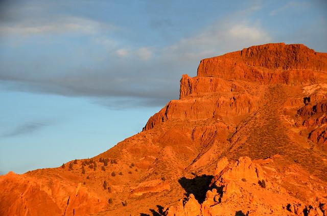 Montaña Guajara at sunset