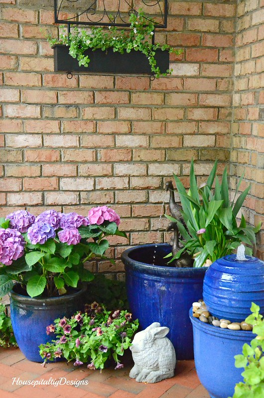 Spring Porch 2017-Water Garden-Hydrangeas-Housepitalty Designs