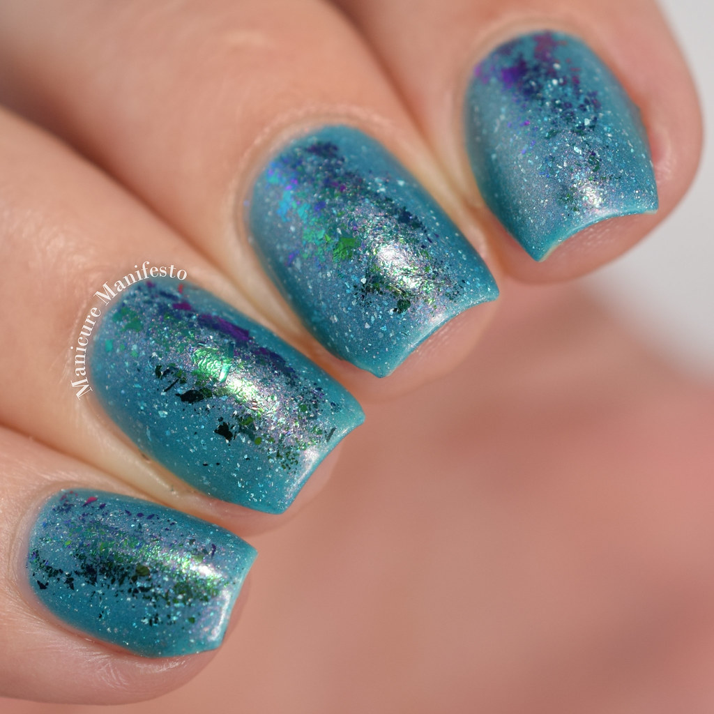Loose multichrome chameleon nail flakies