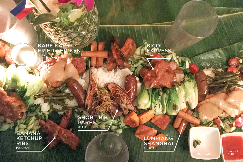 lavlilacs Kamayan Night at Jeepney Filipino Gastropub food spread names