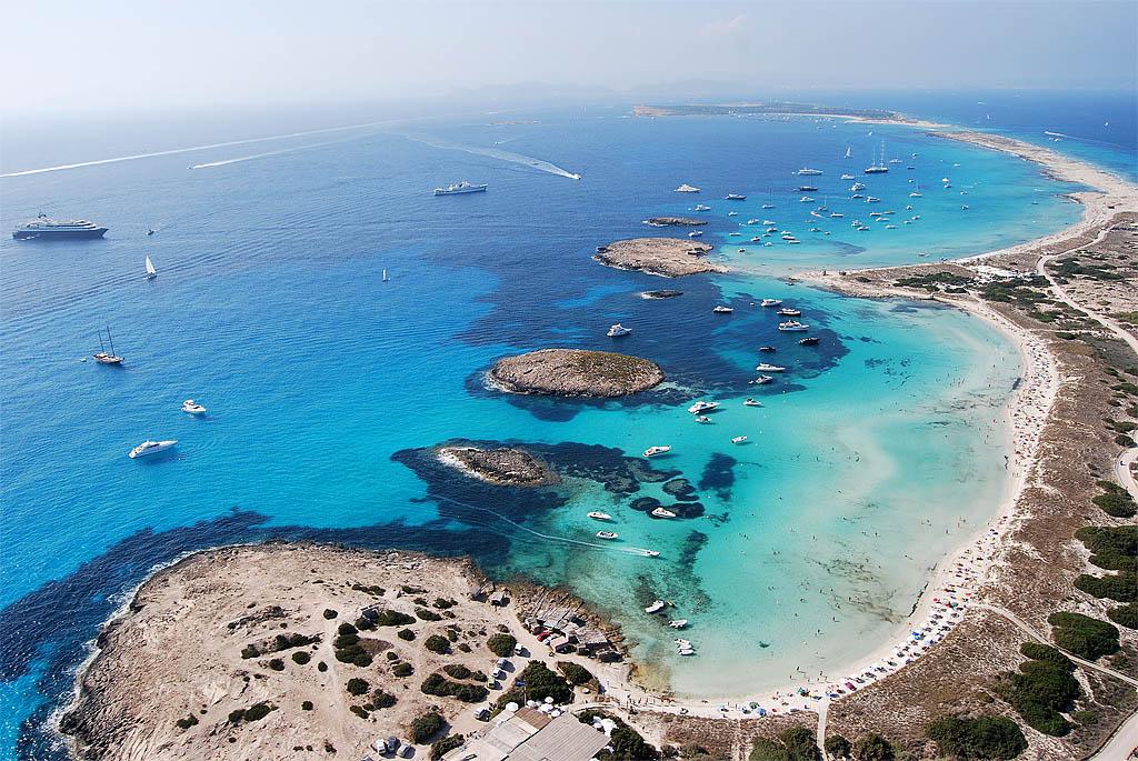 playa de ses illetes formentera map