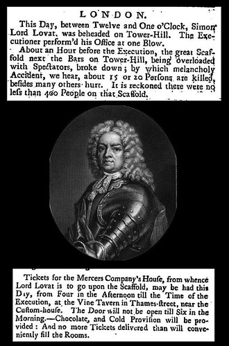 9th April 1747 - The execution of Lord Lovat | by Bradford Timeline