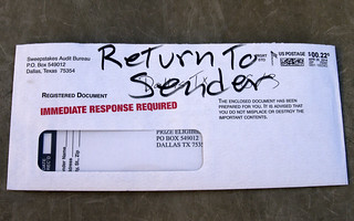 Return to sender | by Judith E. Bell