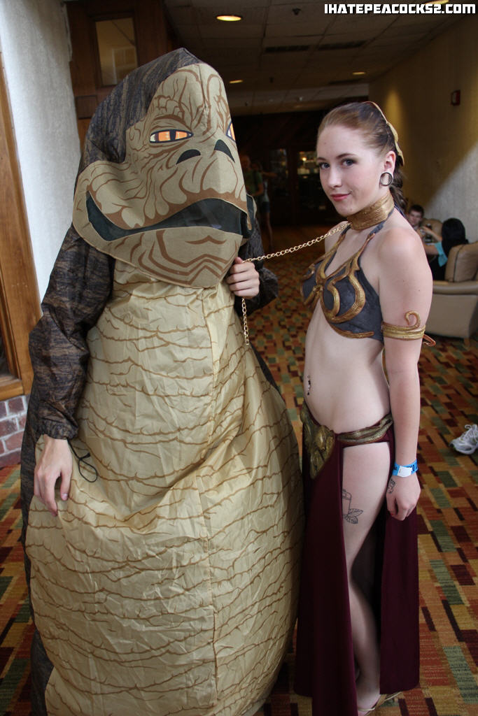 ... Jabba u0026 Slave Leia | by ihatepeacocks  sc 1 st  Flickr & Jabba u0026 Slave Leia | Jabbau0027s costume was a little weak but u2026 | Flickr