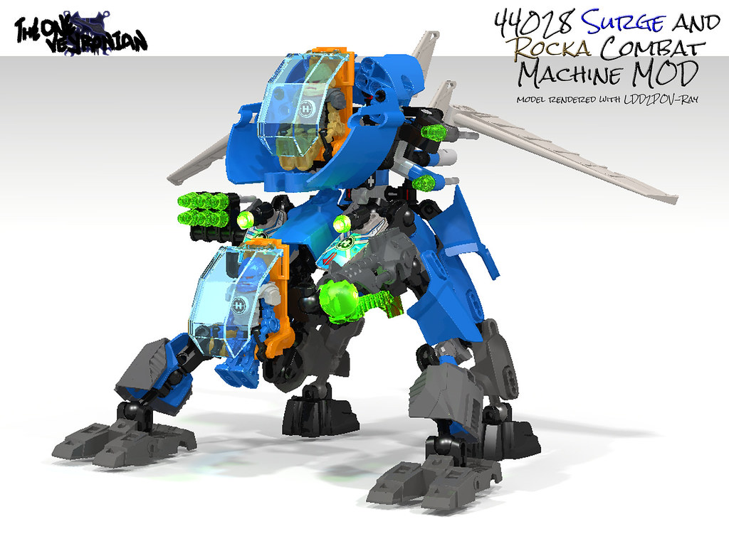 Hero Factory 44028 Surge And Rocka Combat Machine Mod Flickr