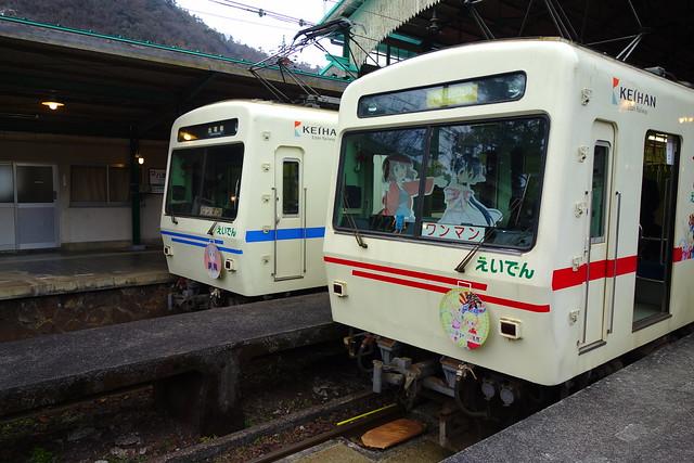 2017/02 叡山電車×きんいろモザイクPretty Days ラッピング車両 #26